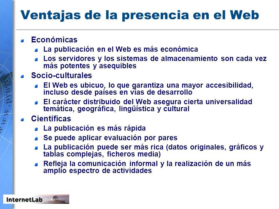 Ventajas de la presencia en el Web