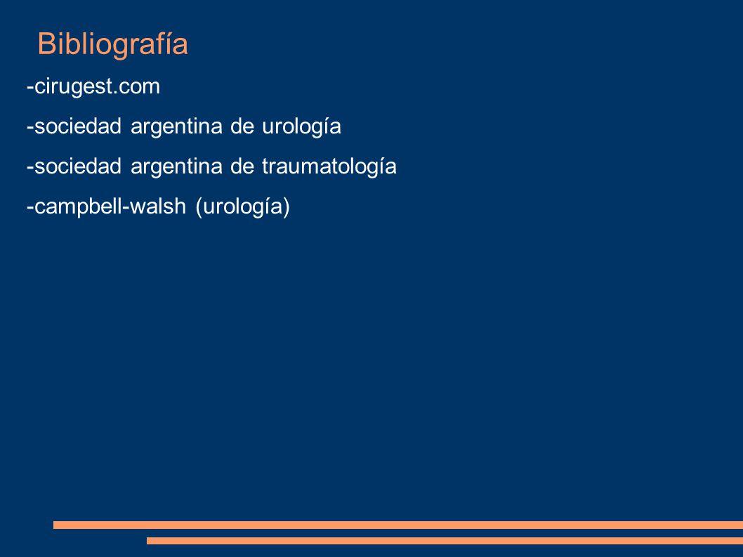 Bibliografía -cirugest.com -sociedad argentina de urología