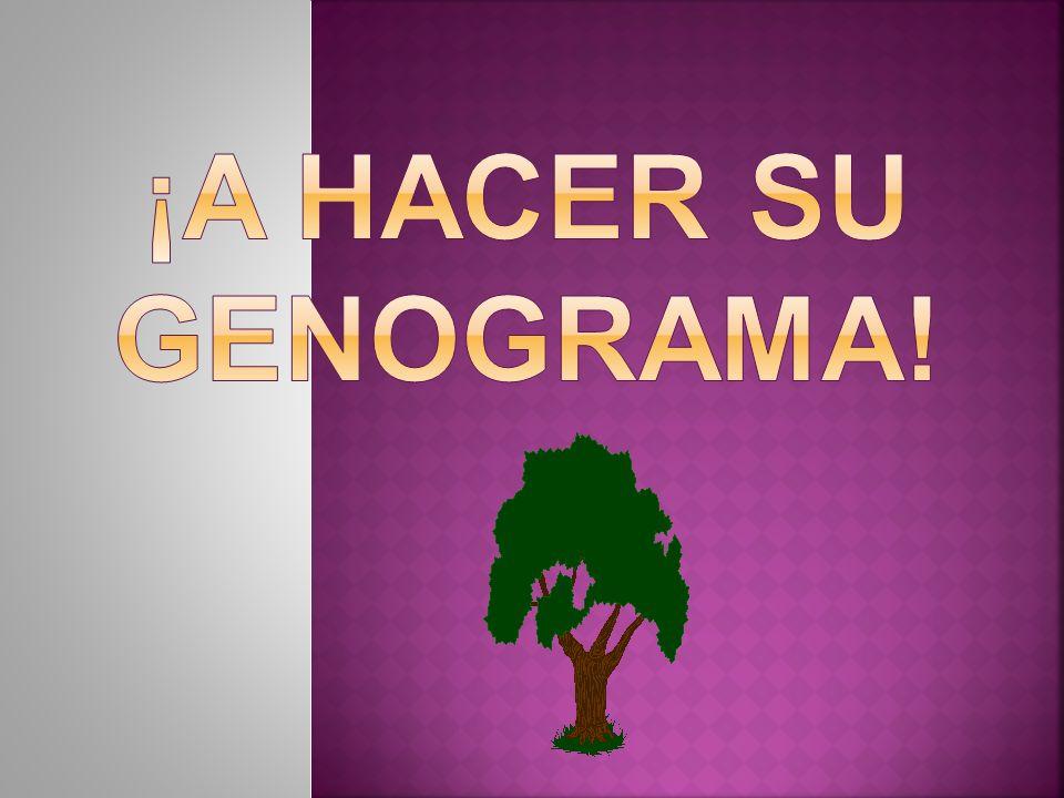 ¡A HACER SU GENOGRAMA!