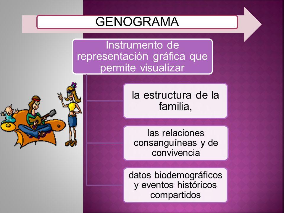 GENOGRAMA Instrumento de representación gráfica que permite visualizar
