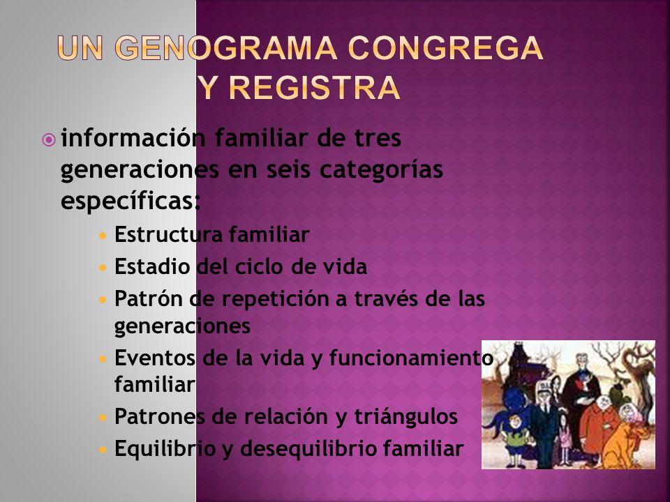 Un Genograma congrega y registra