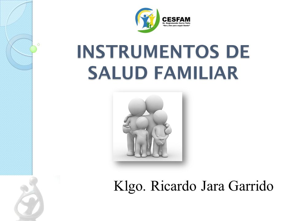 INSTRUMENTOS DE SALUD FAMILIAR