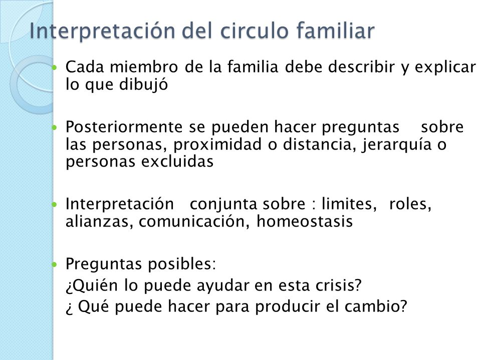 Interpretación del circulo familiar