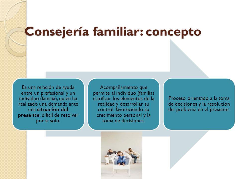 Consejería familiar: concepto
