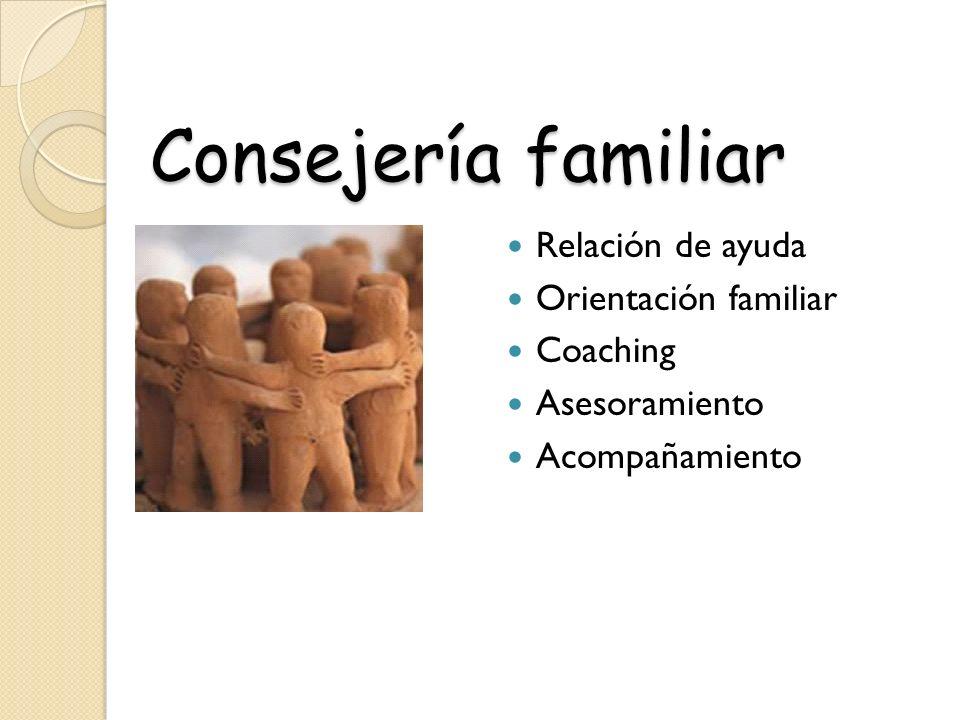 Consejería familiar Relación de ayuda Orientación familiar Coaching