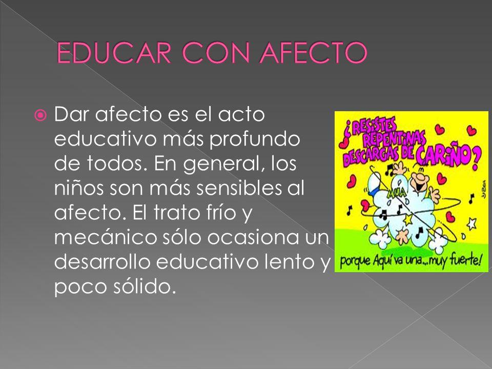 EDUCAR CON AFECTO