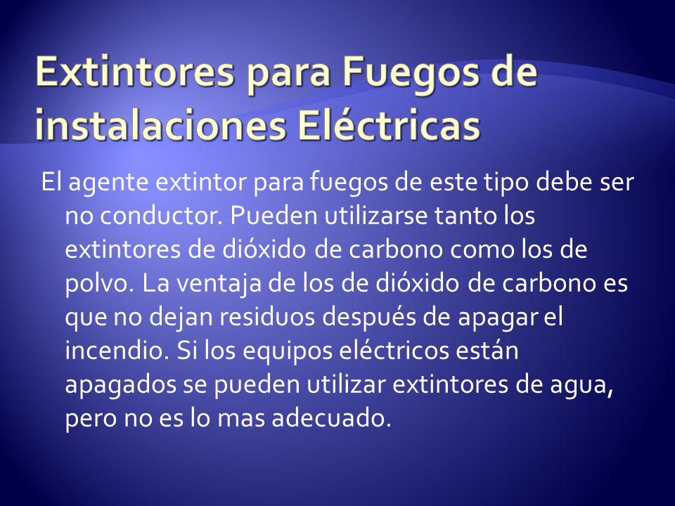 Extintores para Fuegos de instalaciones Eléctricas