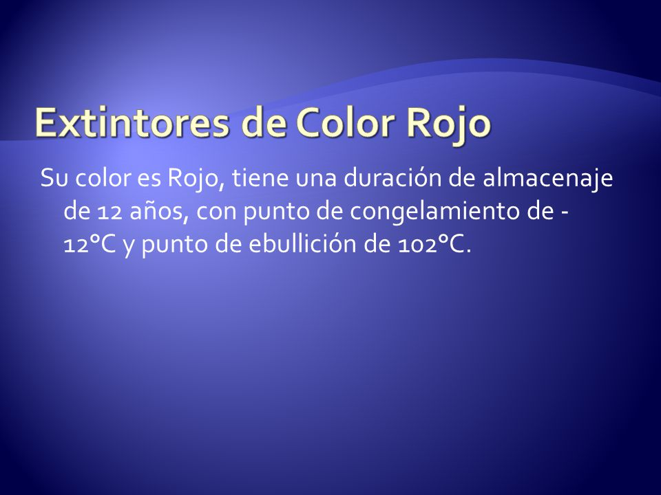 Extintores de Color Rojo