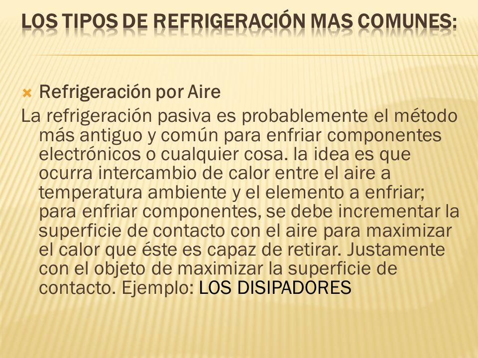 Los tipos de refrigeración mas comunes: