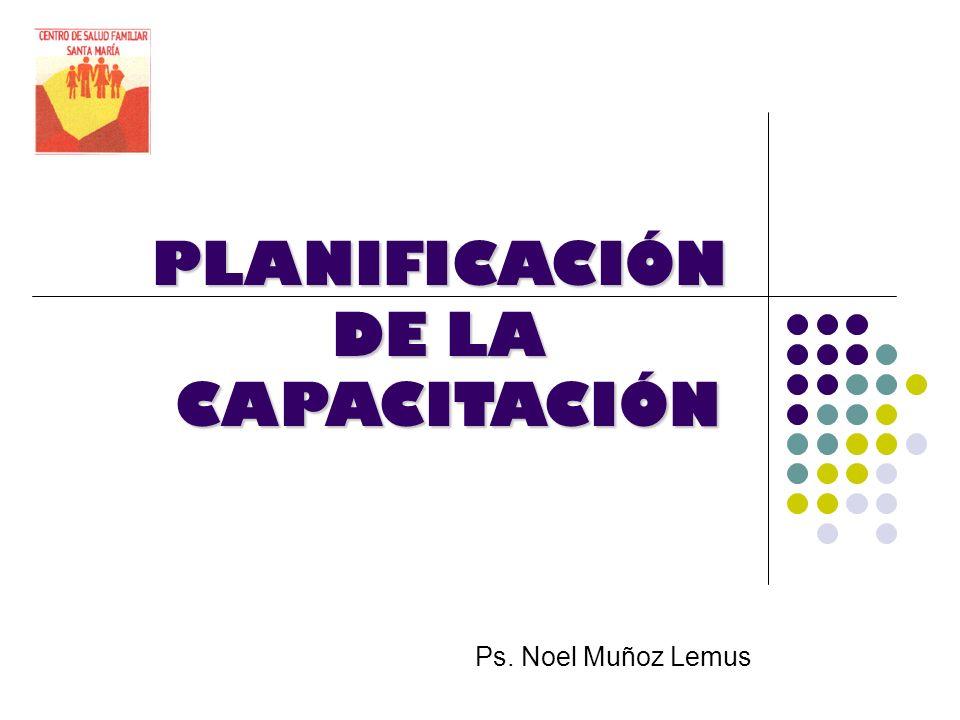PLANIFICACIÓN DE LA CAPACITACIÓN