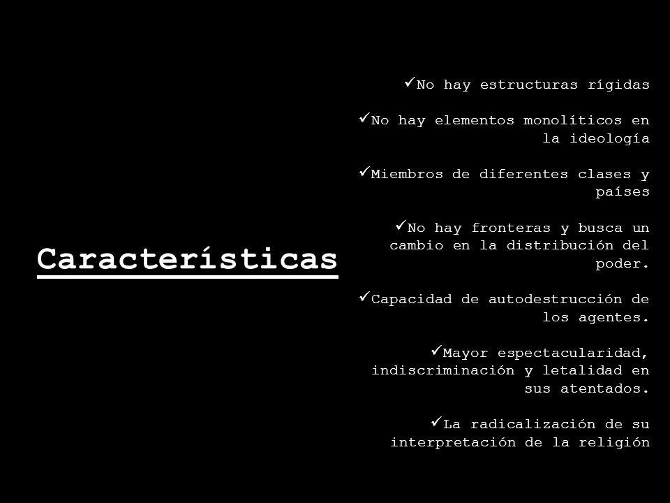 Características No hay estructuras rígidas