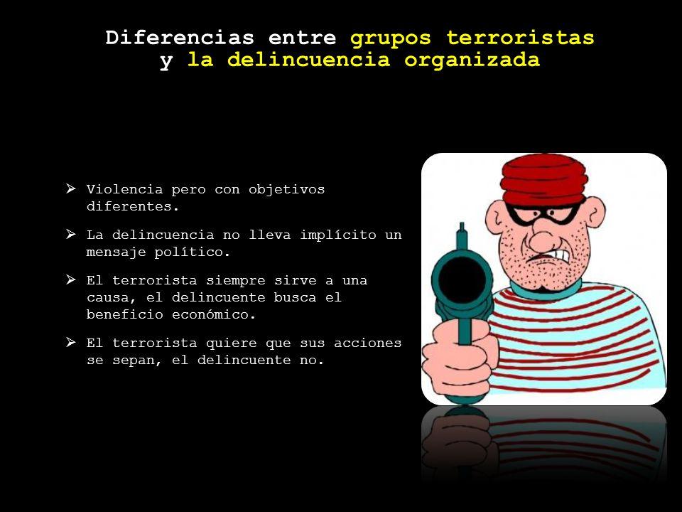 Diferencias entre grupos terroristas y la delincuencia organizada