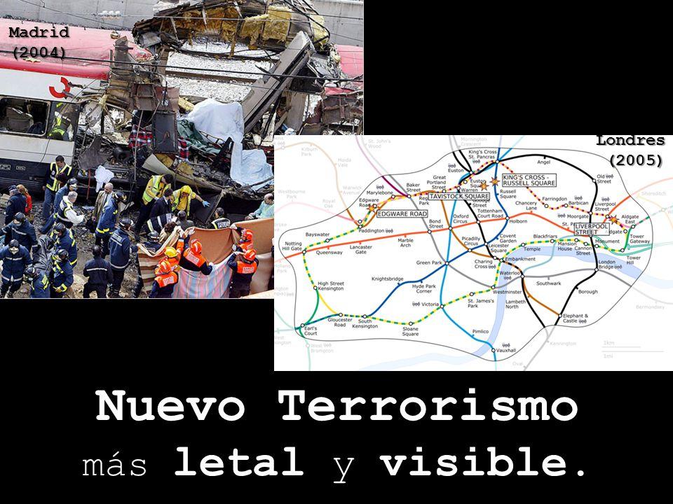 Nuevo Terrorismo más letal y visible. Madrid (2004) New York