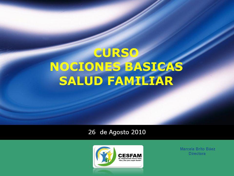 CURSO NOCIONES BASICAS SALUD FAMILIAR