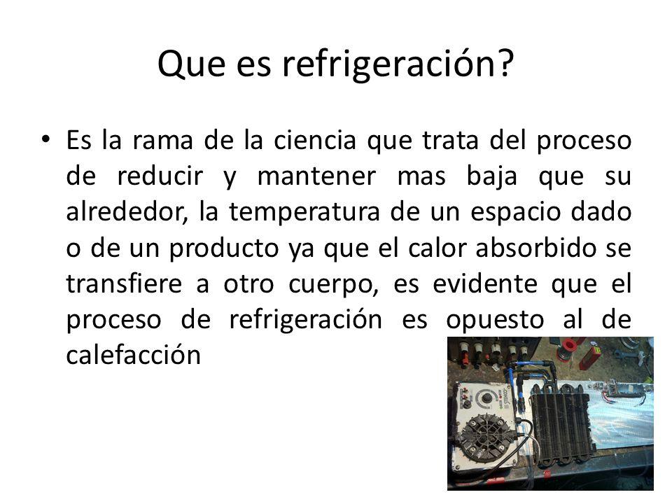 Que es refrigeración