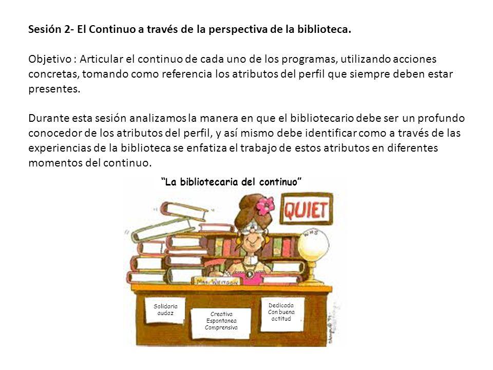 La bibliotecaria del continuo