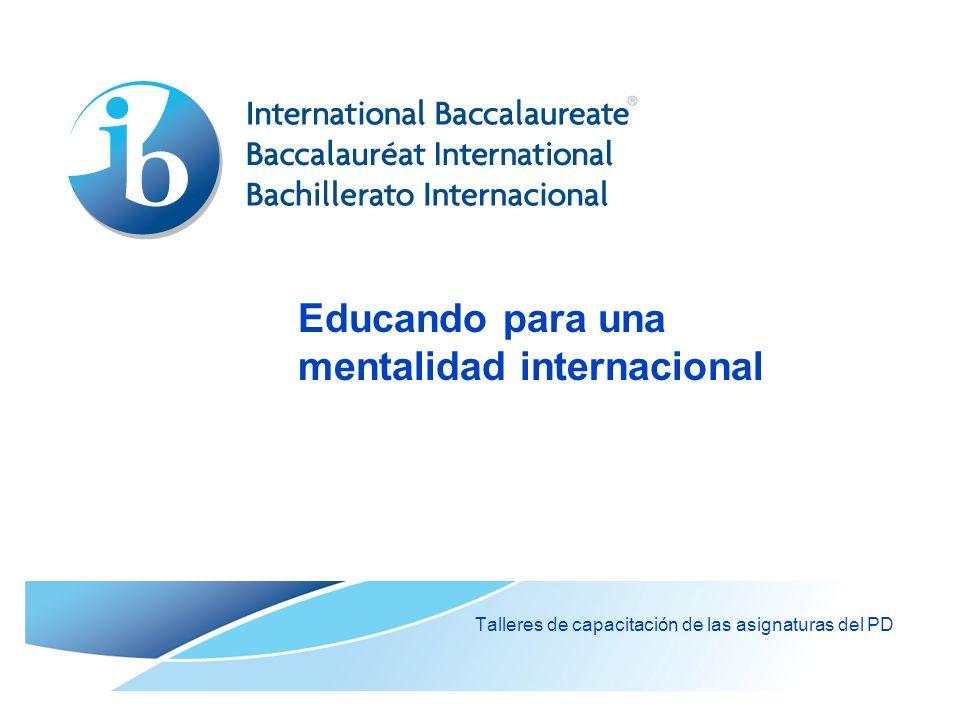 Educando para una mentalidad internacional