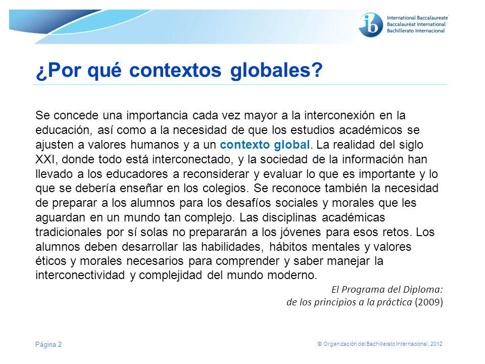¿Por qué contextos globales