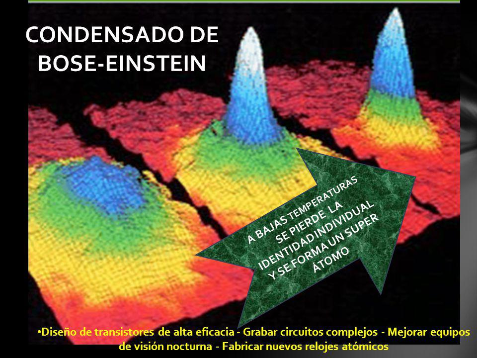 CONDENSADO DE BOSE-EINSTEIN