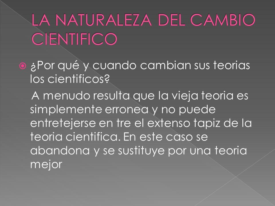 LA NATURALEZA DEL CAMBIO CIENTIFICO
