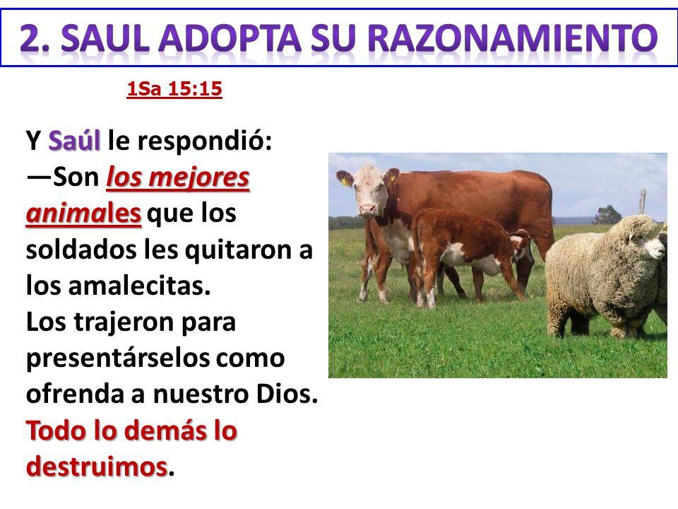 2. SAUL adopta su razonamiento