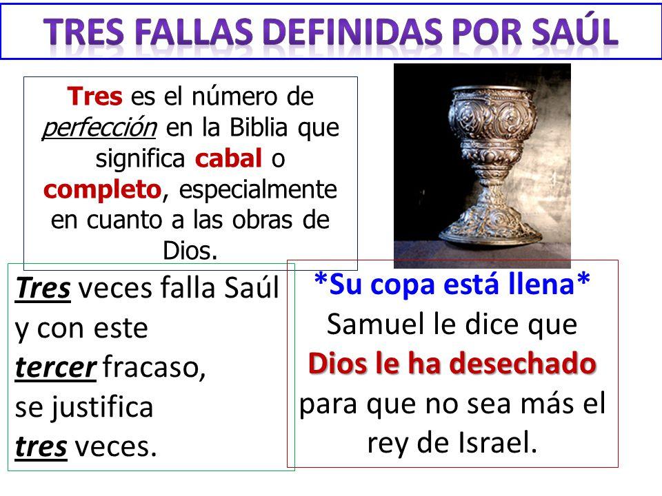 Tres FALLAS definIdAS POR Saúl