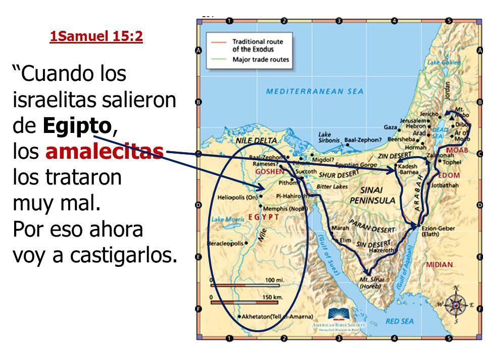 Cuando los israelitas salieron de Egipto,