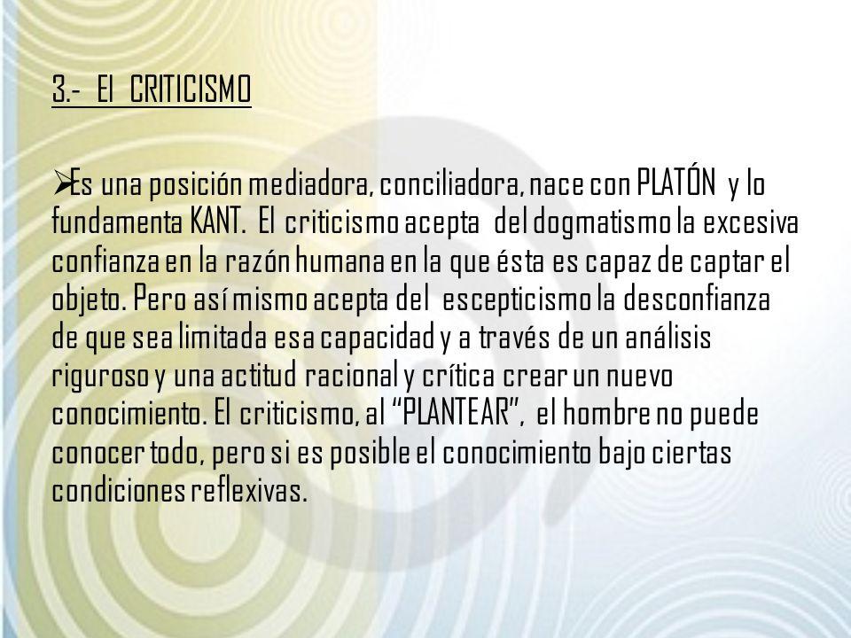 3.- El CRITICISMO