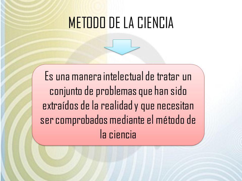 METODO DE LA CIENCIA
