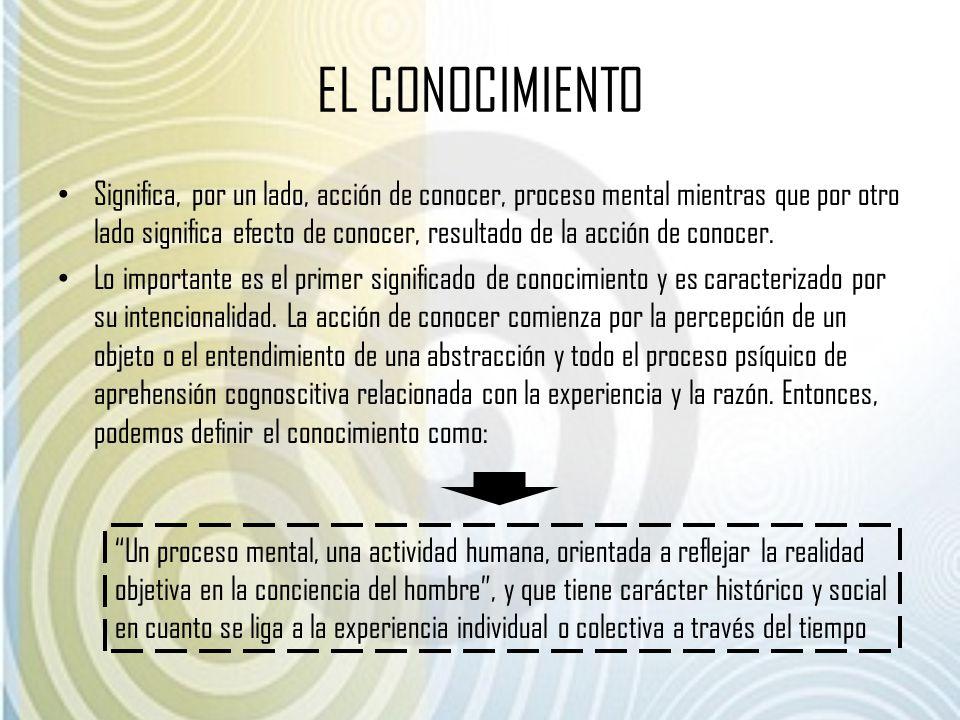 EL CONOCIMIENTO