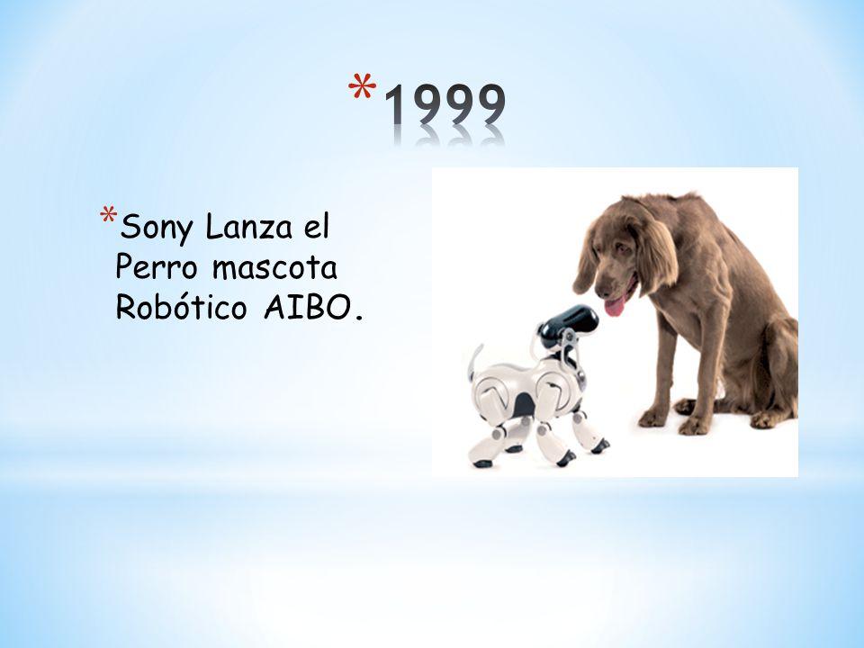 1999 Sony Lanza el Perro mascota Robótico AIBO.