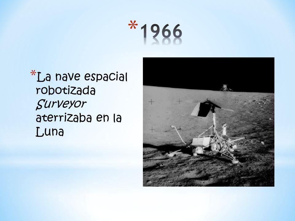 1966 La nave espacial robotizada Surveyor aterrizaba en la Luna