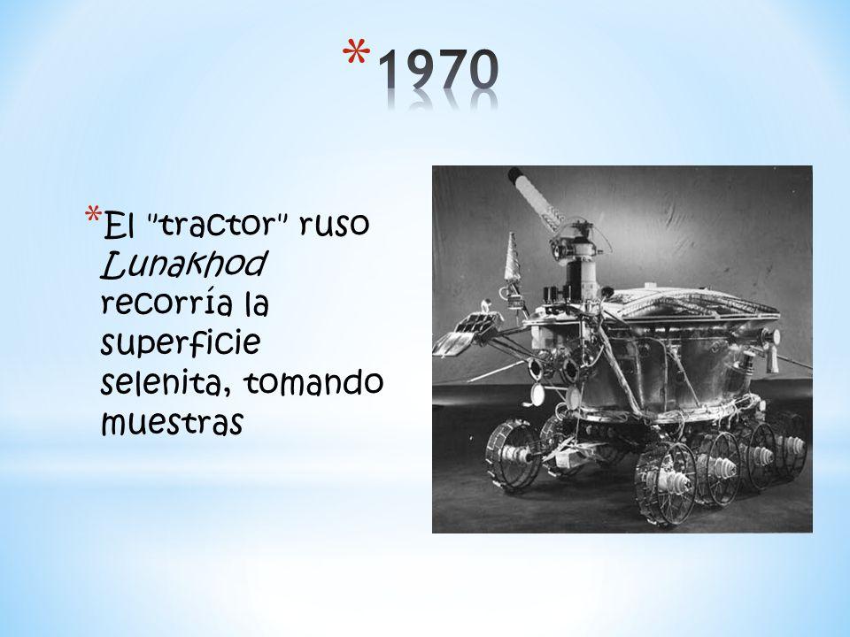1970 El tractor ruso Lunakhod recorría la superficie selenita, tomando muestras