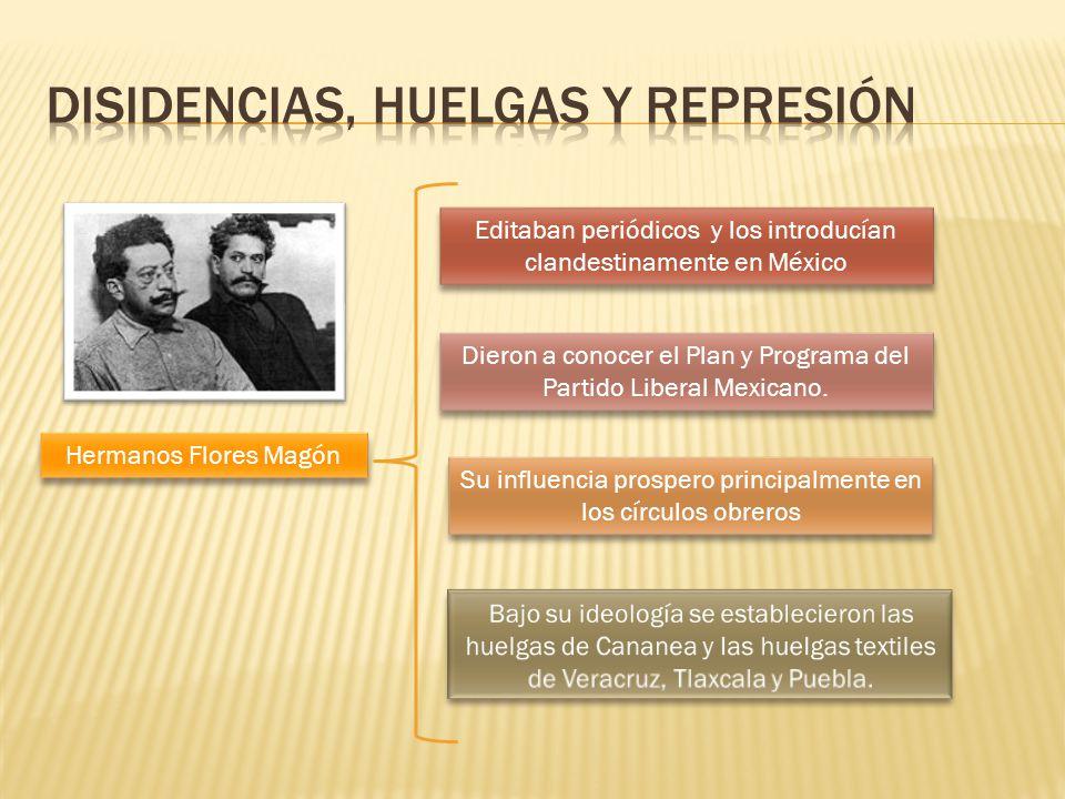 Disidencias, Huelgas y represión