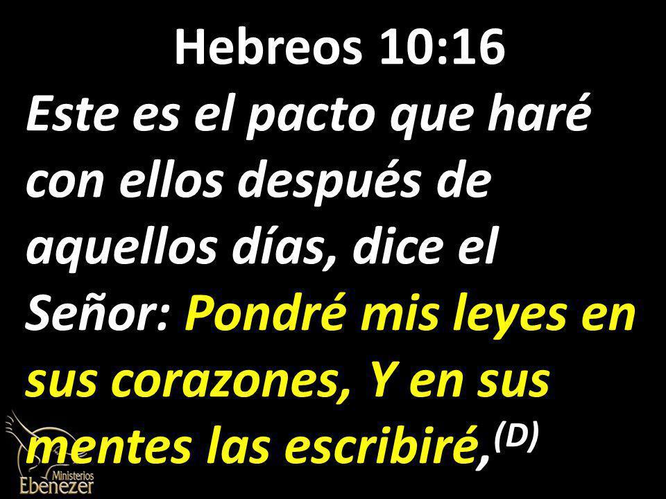 Hebreos 10:16