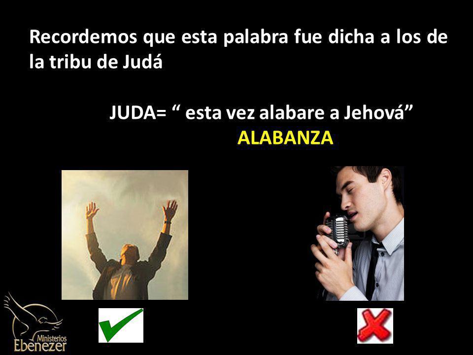 JUDA= esta vez alabare a Jehová ALABANZA