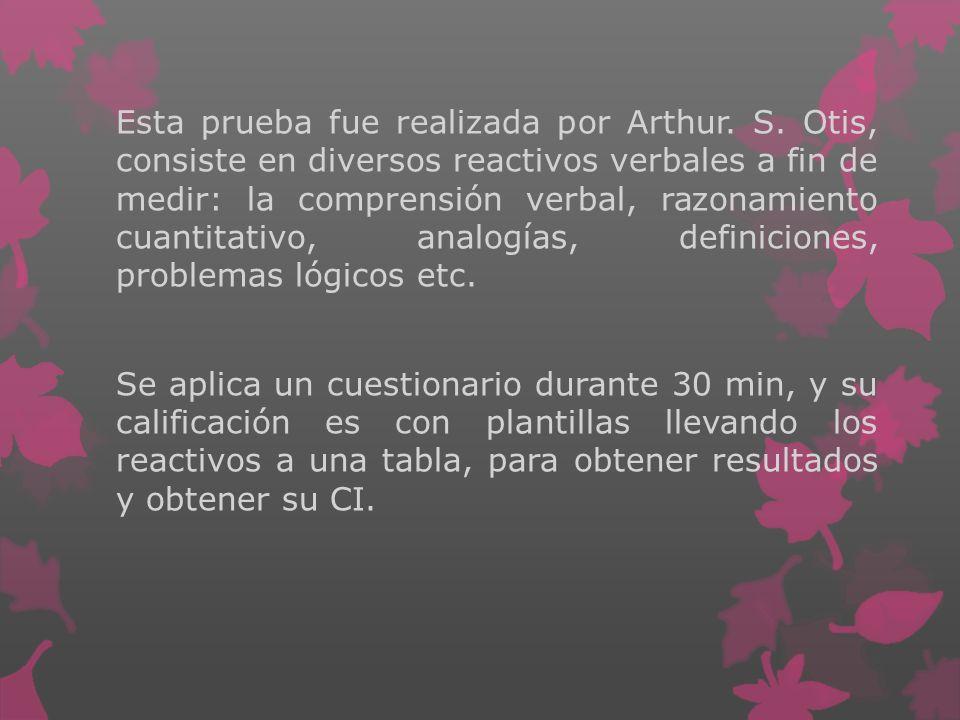 Esta prueba fue realizada por Arthur. S
