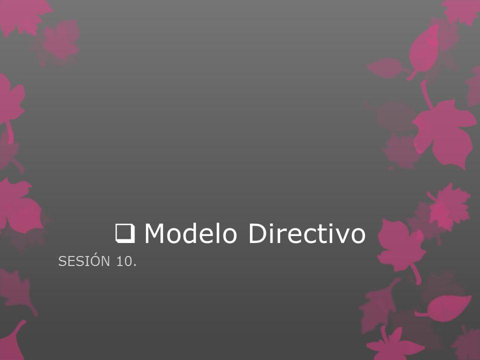 Modelo Directivo SESIÓN 10.