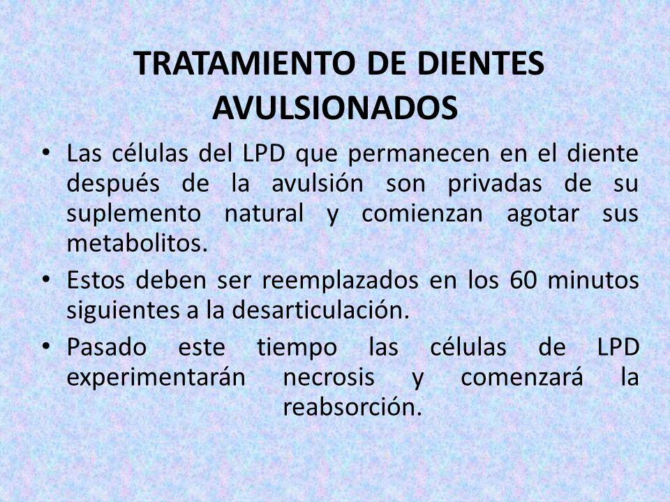 TRATAMIENTO DE DIENTES AVULSIONADOS