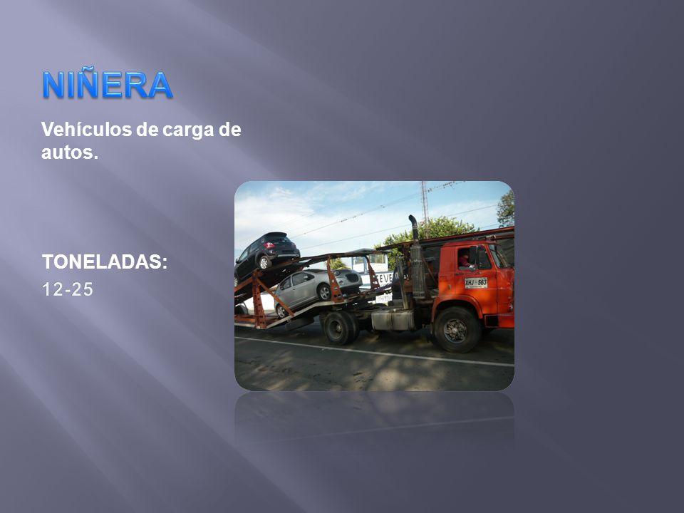 NIÑERA Vehículos de carga de autos. TONELADAS: 12-25