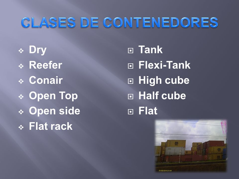 CLASES DE CONTENEDORES
