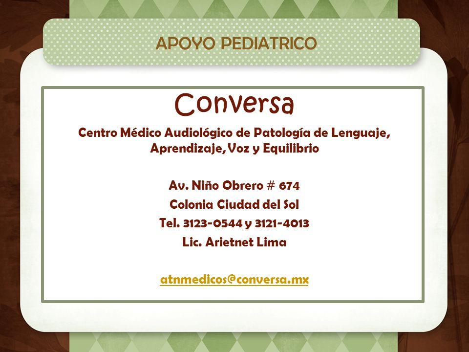 Conversa APOYO PEDIATRICO