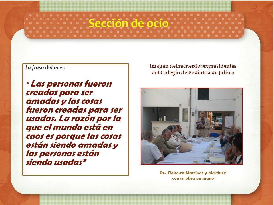 Imágen del recuerdo: expresidentes del Colegio de Pediatría de Jalisco