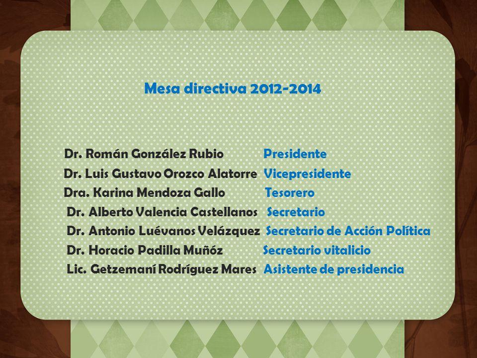 Dr. Román González Rubio Presidente