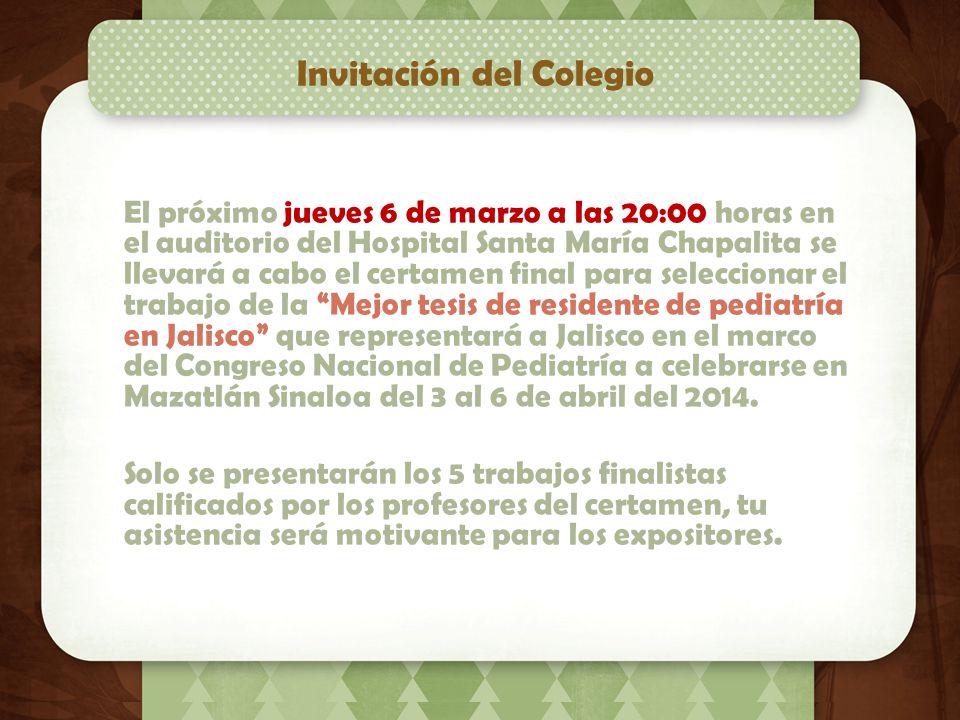 Invitación del Colegio