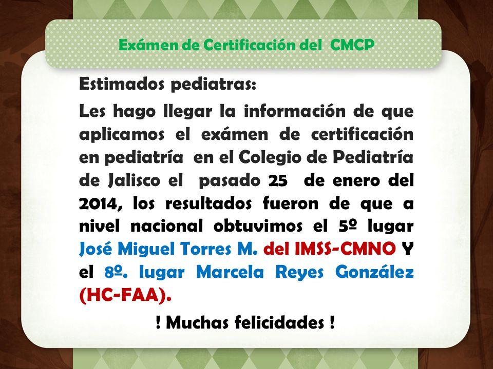 Exámen de Certificación del CMCP