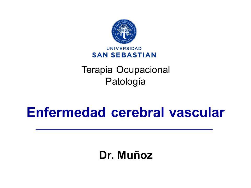 Terapia Ocupacional Patología Enfermedad cerebral vascular