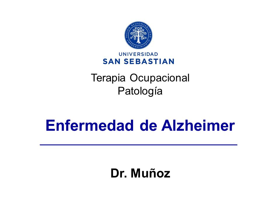 Terapia Ocupacional Patología Enfermedad de Alzheimer