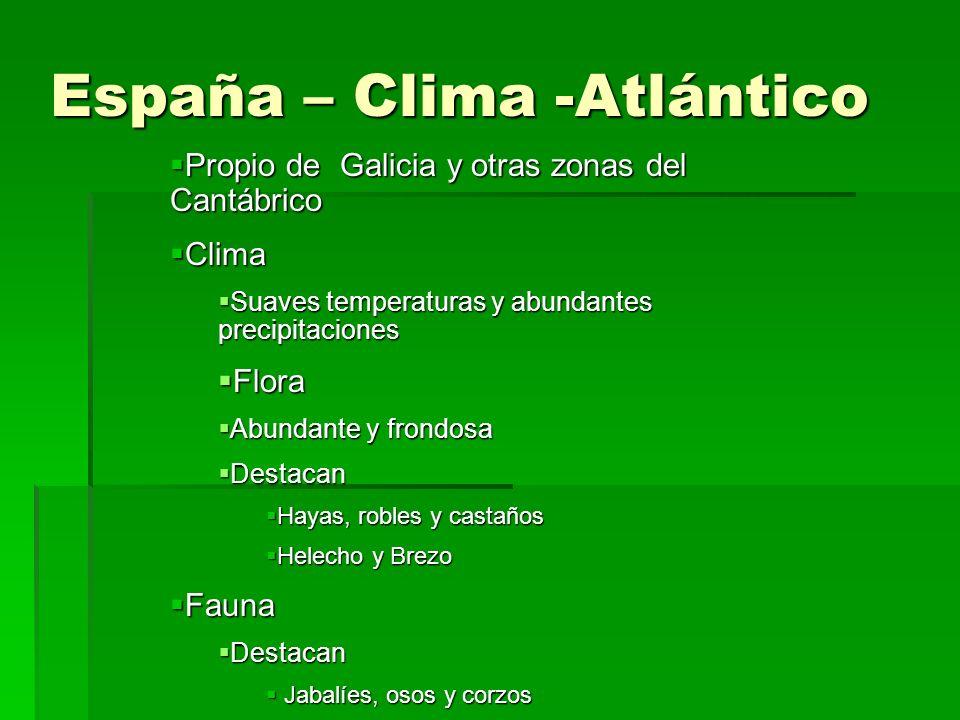 España – Clima -Atlántico