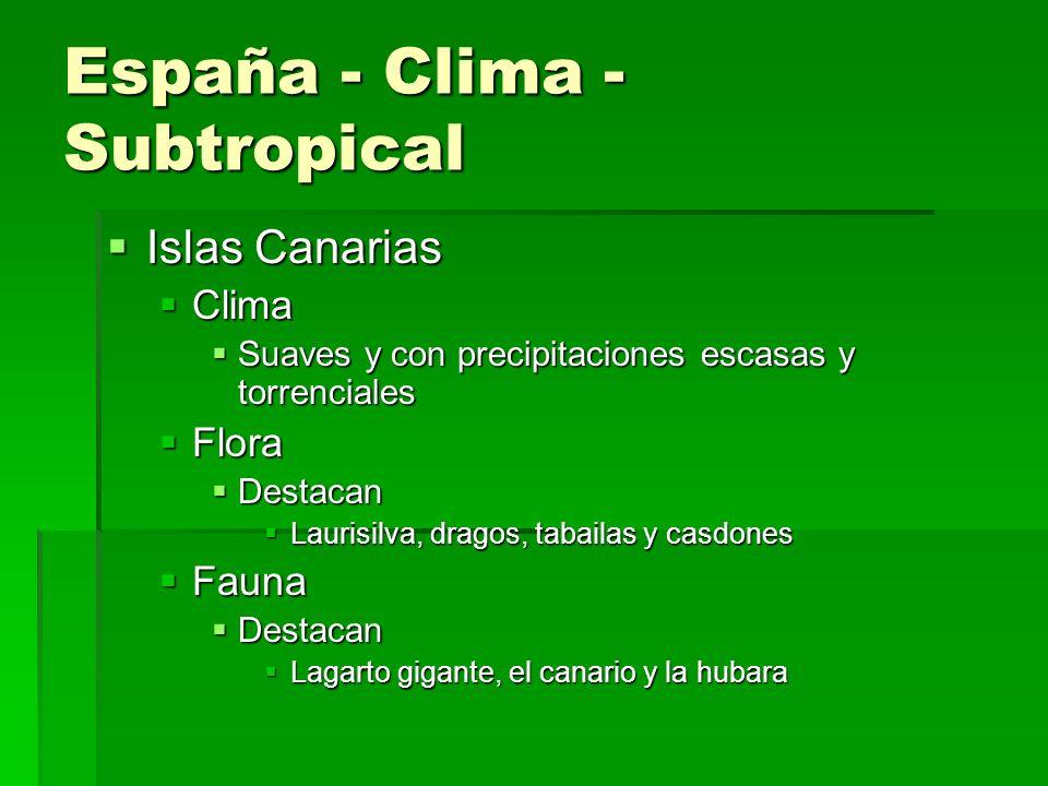 España - Clima - Subtropical